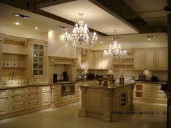 Модульная твердой древесины/деревянный кухонных шкафов (lh-sw003)