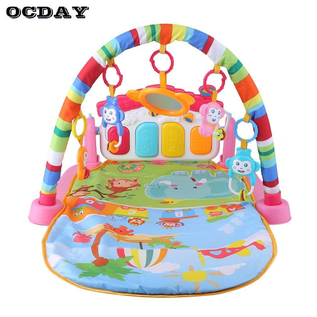 3 in 1 Baby Play Mat <font><b>Rug</b></font> Toys Kid's Crawling Music Play Game Developing Mat Pad with Keyboard Infant Carpet Education Rack Toy