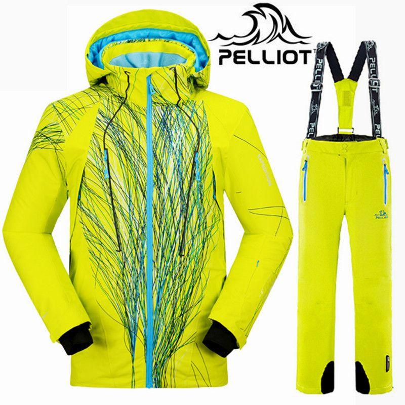 Pelliot Marke Ski Anzug Männer Wasserdichte Ski Jacke Winter Hosen Männlichen Snowboard Jacke Hose Mountain Ski Anzug Frauen Schnee Kleidung