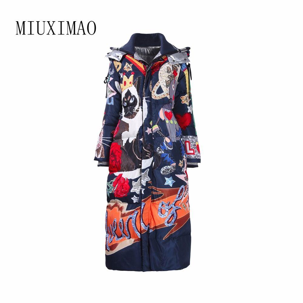2018 neueste Winter Neue Ankunft Elegante Mode Warme Lange Mantel Frauen