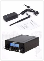 LCD Display PLL 76 MHz ~ 108 MHz 0.1/0.5 W Stereo FM Broadcast Transmitter + Antena + Power Adapter