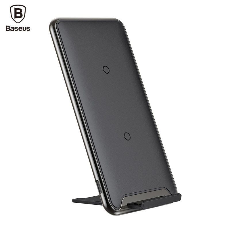 Baseus Qi 10W 3 Coil Wireless charger fast charging charger For iPhone X Samsung Galaxy S9 mobile phone charger holder for phone