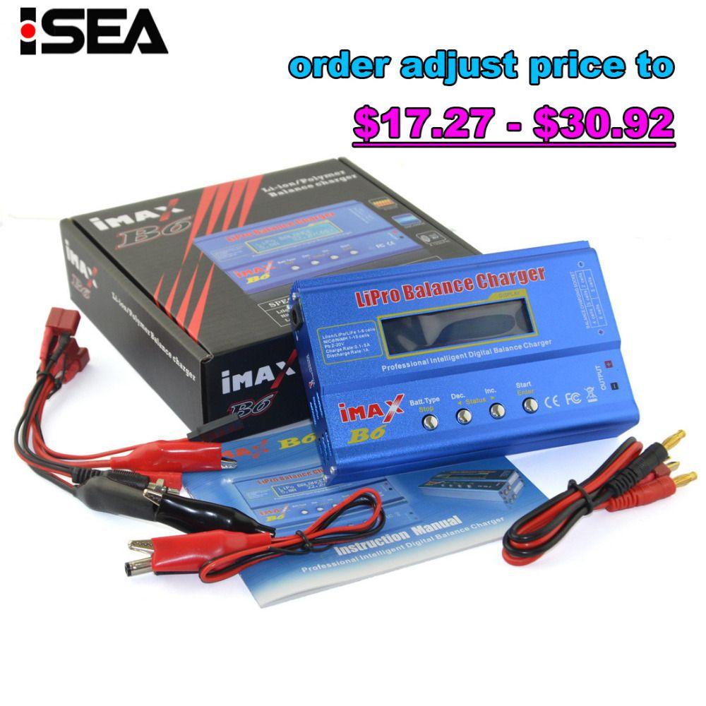 Hot Selling HTRC iMAX B6 80W 6A Battery Charger Lipo <font><b>NiMh</b></font> Li-ion Ni-Cd Digital RC Balance Charger Discharger 50W 5A