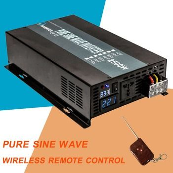 2500 W Solaire Onduleur 12 220 Pur Onde sinusoïdale Onduleur Convertisseur de Tension 12 V/24 V/48 V DC à 120 V/220 V/240 V AC Télécommande