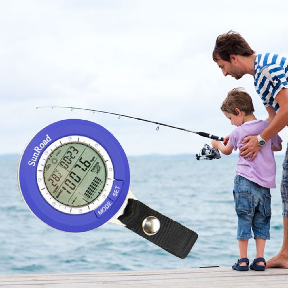 IPX 4 waterproof Fishing Barometer Multi-function LCD Digital Outdoor Fishing Barometer <font><b>Altimeter</b></font> Thermometer Timer Weather