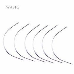50 pcs 9 CM C Forme Courbe Aiguilles Enfile À Coudre/Tissage Aiguilles pour Extension Trame de Cheveux Humains Tissage