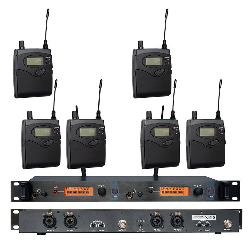In Ear Monitor Wireless System SR2050 Double transmitter Monitoring Professional for Stage Performance 6 receivers