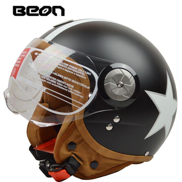 BEON B110 open face 3/4 Vintage Motorcycle helmet Motorbike Casco Capacete Jet Retro helmet <font><b>scooter</b></font> helmet ECE Certification