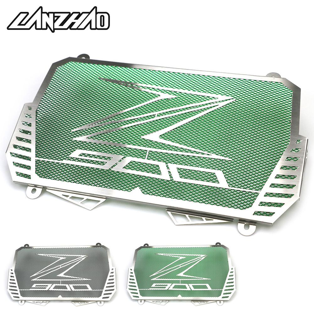 Motorcycle Radiator Guard Stainless Steel Bezel Grill Cover Protector Green Black Modified Accessories for Kawasaki Z900 2017