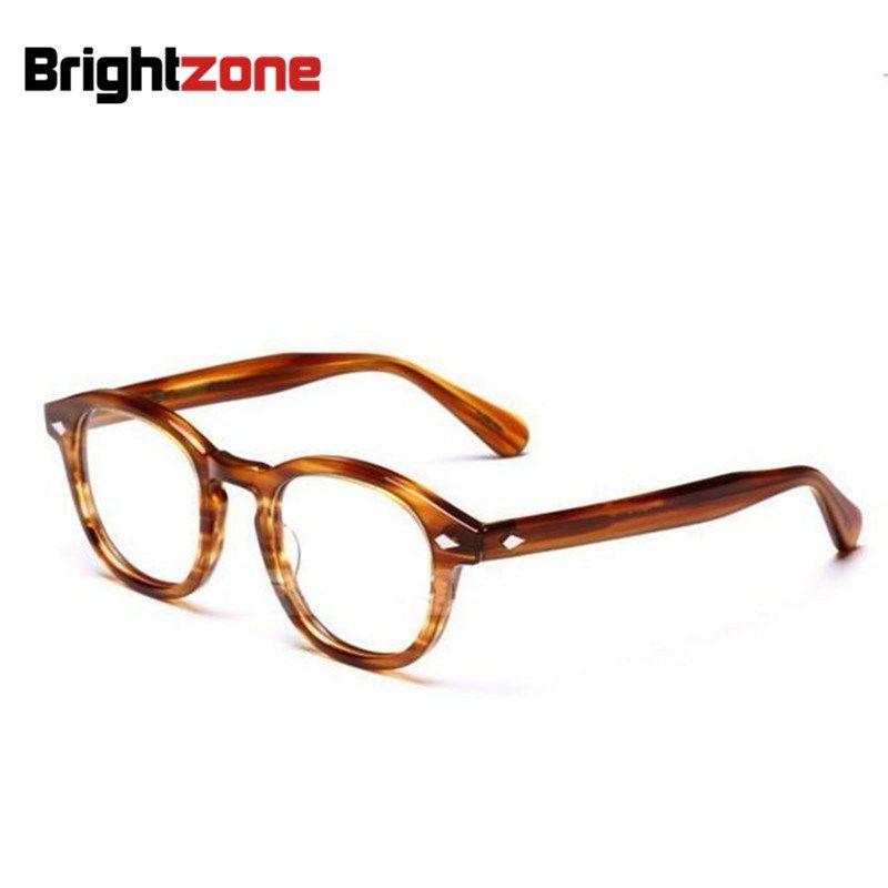 Brightzone High Quality Vogue Vintage Full Unisex Acetate Optical Frame Eyeglasses Spectacles Frames Prescription Glasses Oculos
