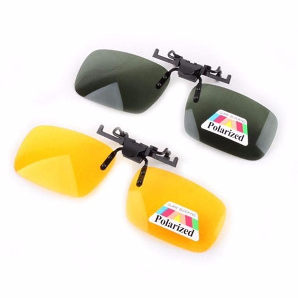 Driving Day Night Vision Polarized Clip-on Flip up Resin Sunglasses Lens for Myopia Glasses Car Styling Driving Goggles' Clip