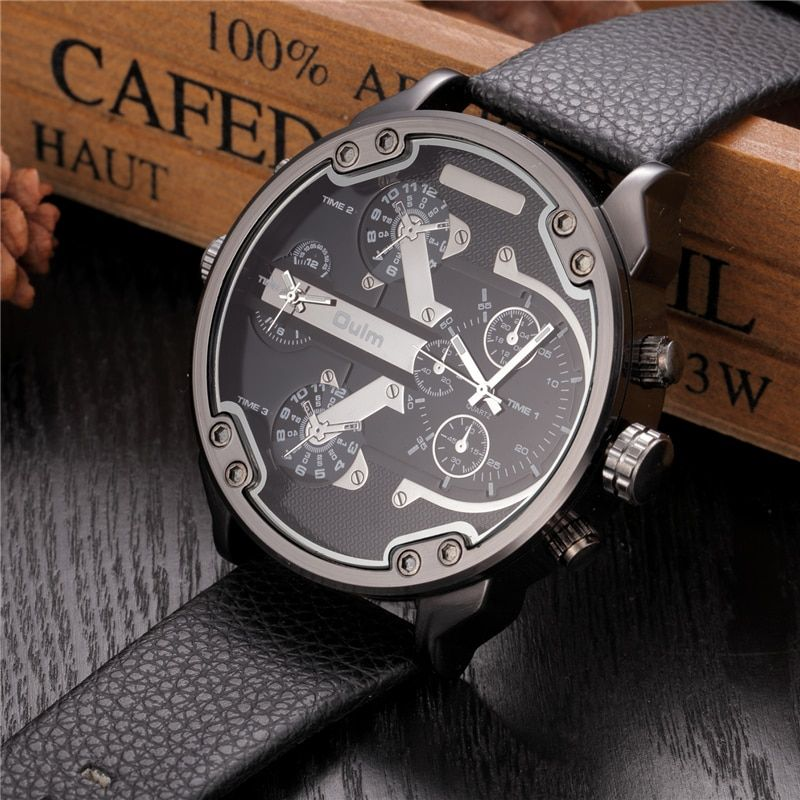 Oversized Men's Big Watch Luxury Brand Famous Unique Designer Quartz Watch Male Large Watches Men Oulm relogio <font><b>masculino</b></font>