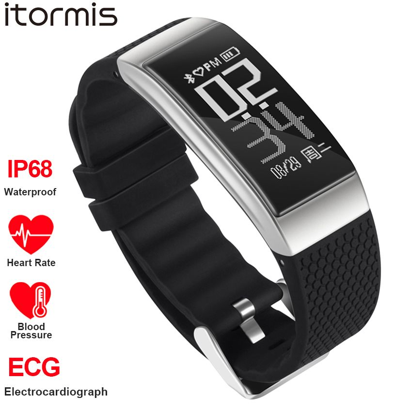 ITORMIS Fitness Smart Bracelet SmartBand Sport Wrist Band Watch ECG Heart Rate Blood Pessure Monitor Waterproof for IOS Android