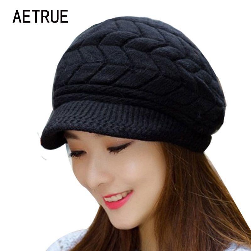 Winter Beanies Knit Women's Hat Winter Hats For Women Ladies Beanie Girls Skullies Caps Bonnet Femme Snapback Wool Warm Hat 2017