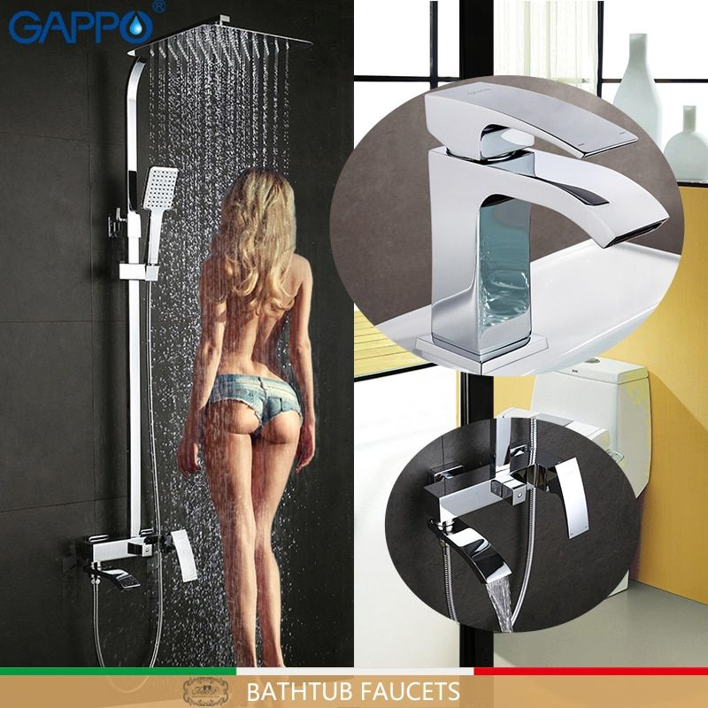 GAPPO Badewanne Armaturen badewanne mixer wasserfall dusche wasserhähne becken armaturen basin mischbatterie regen dusche set