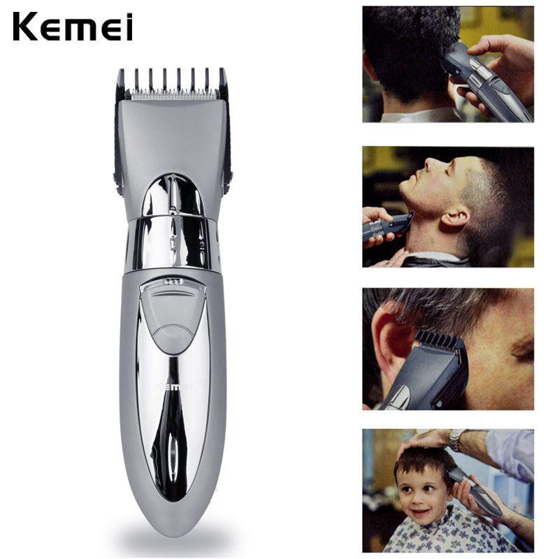 Kemei Électrique Rechargeable Cheveux Tondeuse Barbe Cheveux Tondeuse Étanche Tondeuse À Cheveux pour les Hommes Bébé De Coupe De Cheveux Machine BarberTool