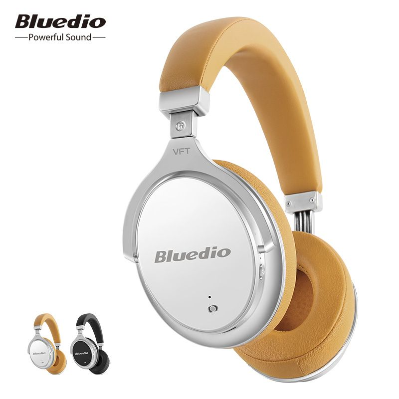Bluedio F2 Active Noise Cancelling Wireless Bluetooth Headphones <font><b>Rotatable</b></font> Over Ear Headphone With Soft Ear Pad For Mobile Phone