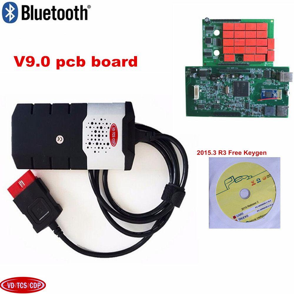 VD DS150E CD 2018 obd obd2 scanner with best relays 2015R3 keygen for delphis ds150e bluetooth diagnostic tools