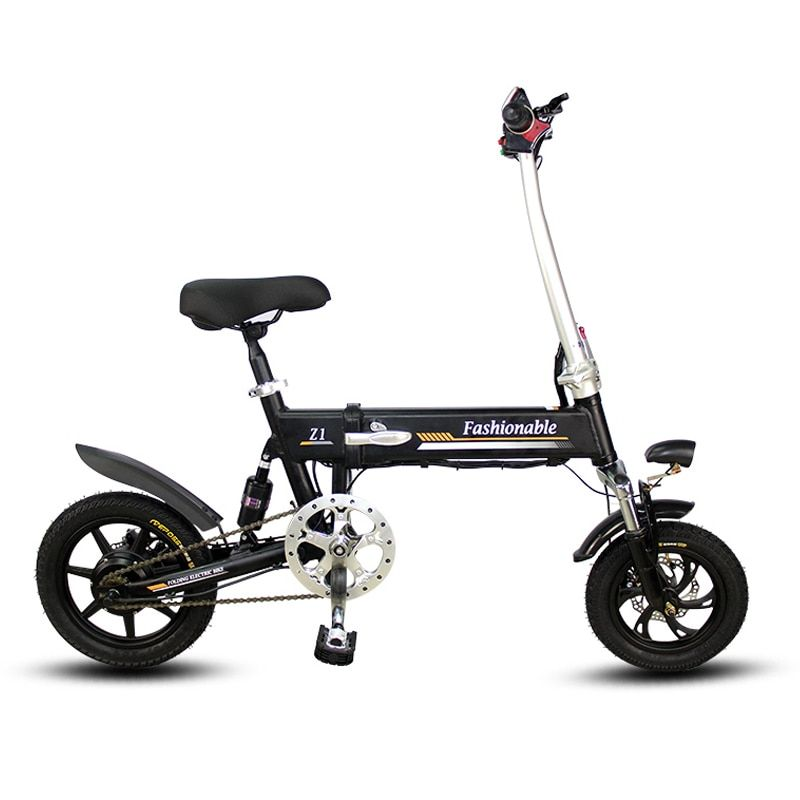 14inch electric bike Portable folding electric bicycle mini adult e bike powered motorcycles Two-disc brakes electric bicycle
