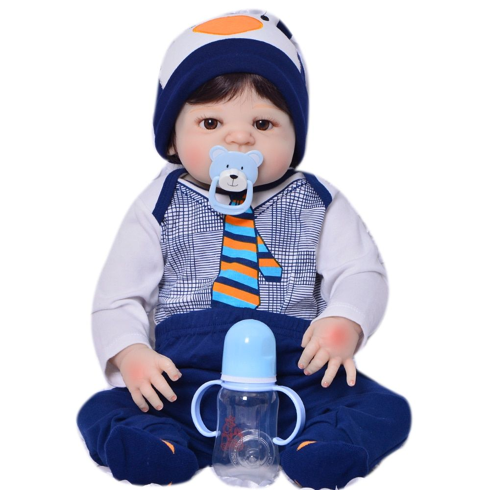 Limited Edition 23 Inch Reborn Baby Doll Toys 57 Cm Full Silicone Vinyl Realistic Newborn Babies For Boys Kid Holiday Present