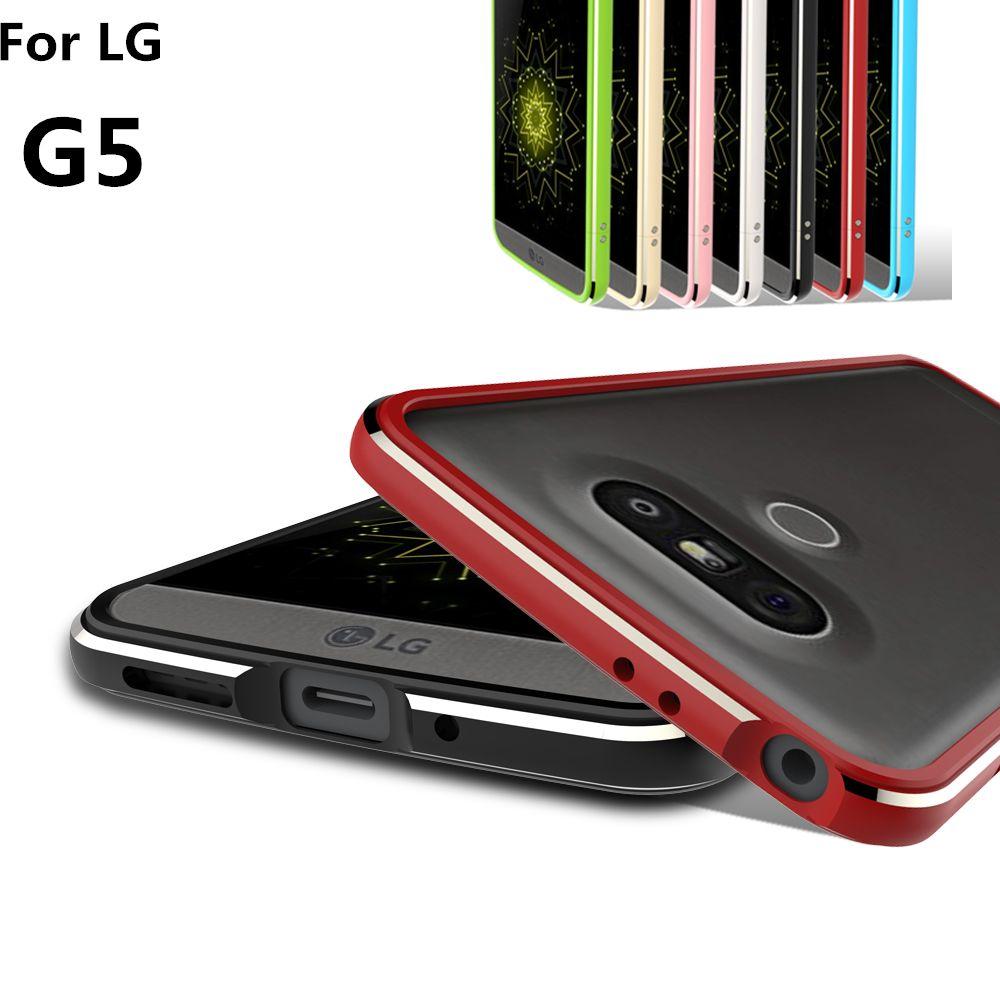 Pour Fundas LG G5 Pare-chocs cas De Luxe de Luxe Ultra Mince De Protection en aluminium Pare-chocs Pour LG G5 H868 5.3-pouces
