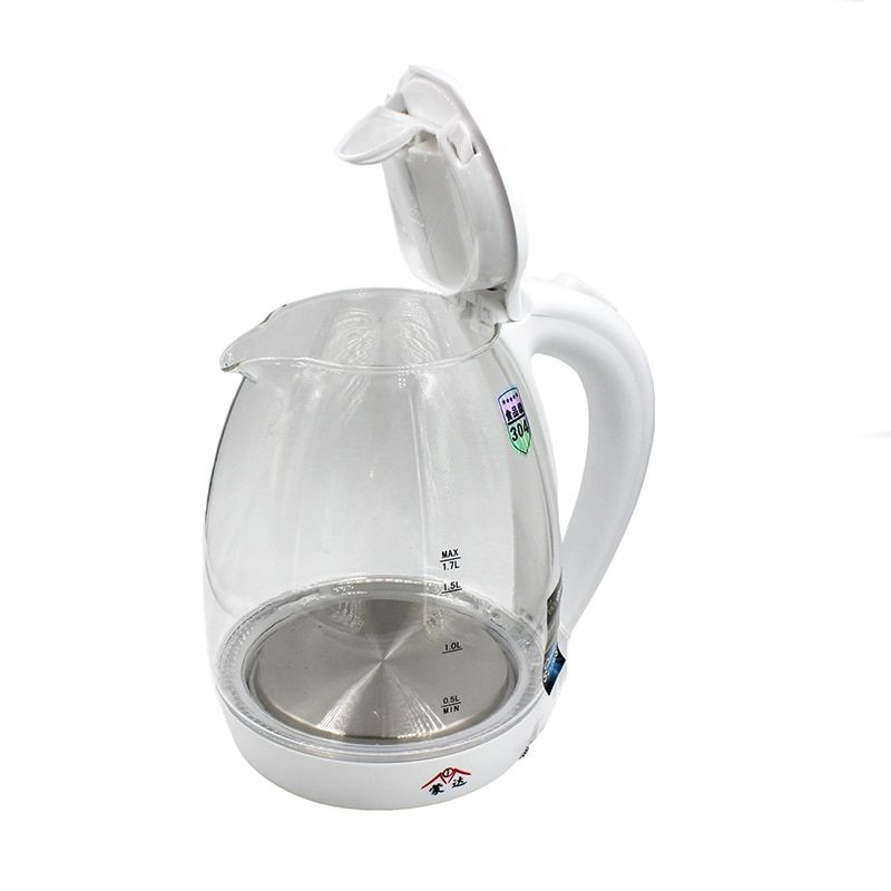 NEW Amazing BlueLED Glass Electric Kettle AutomaticElectric High BorosilicateGlass Kettle Kitchen Appliances1.7 liters du