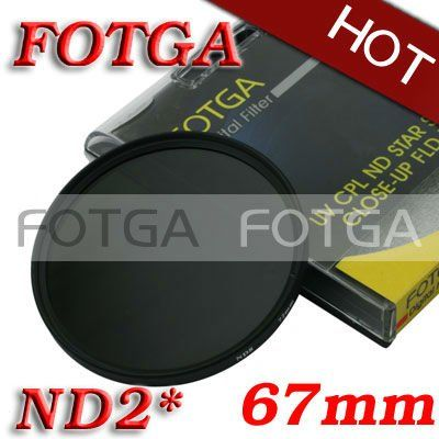 Wholesale FOTGA 67mm Neutral Density ND2 Lens Filter Screw Mount as green L for Canon Nikon Sony Olympus Camera