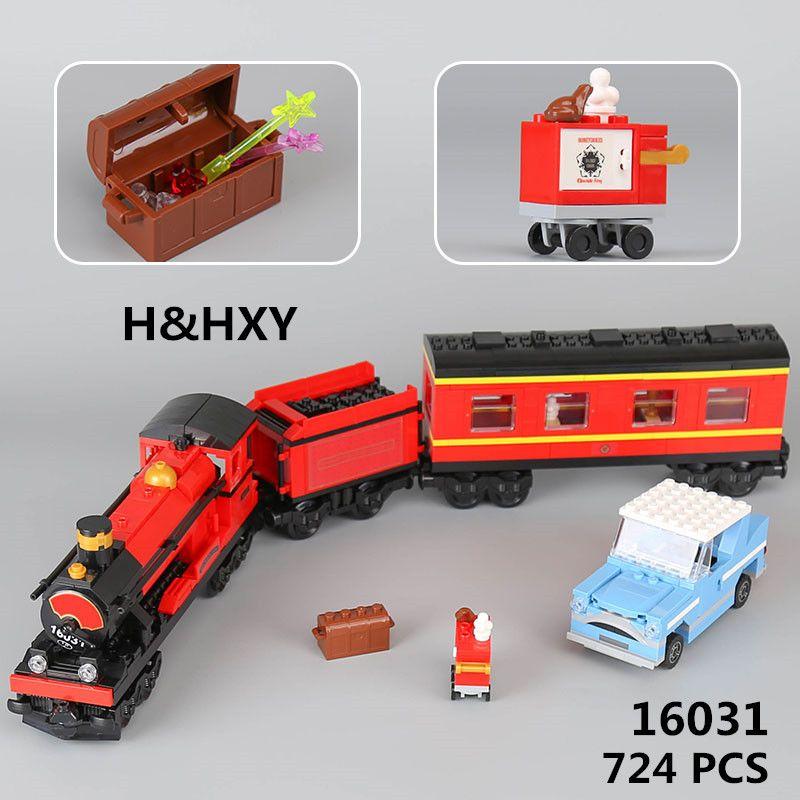 EN STOCK H & HXY 16031 724 unids Serie Movie Expreso de Hogwarts Juego de Bloques de Construcción de Ladrillos DIY Juguetes Para niños Navidad regalos lepin
