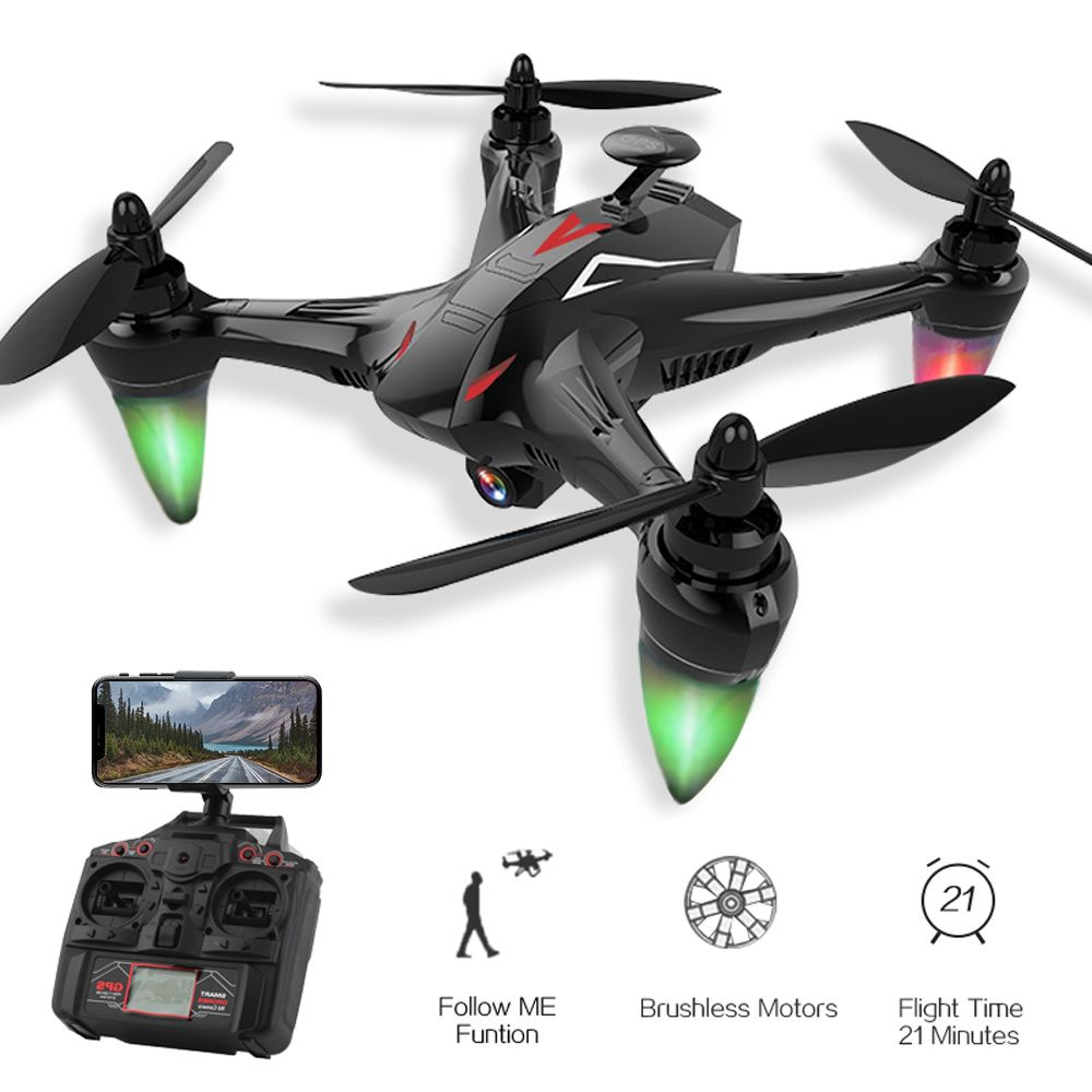 Global Drone GW198 RC Quadcopter with 1080P HD 5G WiFi FPV Camera Brushless Drone Follow Me GPS Quadrocopter VS H501S X183