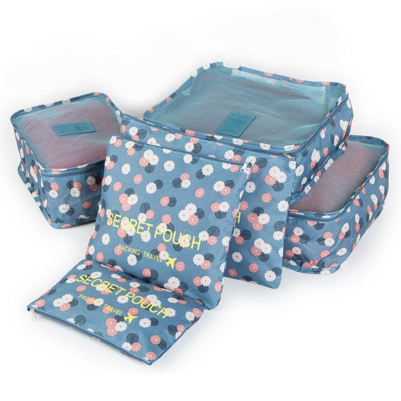 Emballage Cubes 6 pcs/ensemble Sac De Stockage De Voyage bagages mauvais Organisateur Valise Accueil penderie placard Conteneur Organisateur D-75