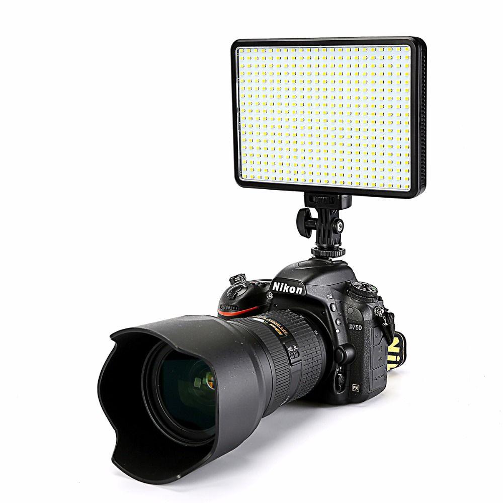 30 W 5600 K/3200 K sur l'appareil photo 396 ampoules LED lampe de lumière vidéo Dimmable éclairage photographique pour Canon Nikon Pentax appareil photo reflex numérique