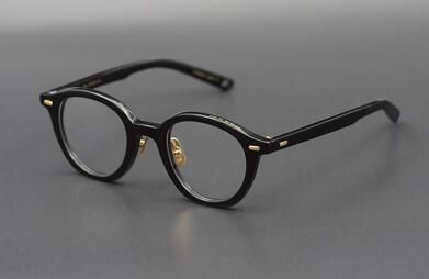 Collection of hand-made matte frame Irregular round frame retro literary youth glasses Temperament models men and women