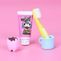 4 шт./компл. Новая мода зубной формы ластик резиновый канцелярский детский подарок милые ученики поставки
