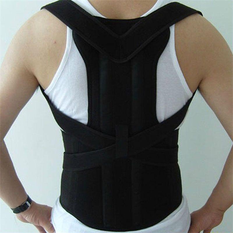 Adjustable Male Belt Men Posture Corrector Therapy Posture Orthopedic Shoulder Pain Lumbar Corset Back Brace Belt Straps