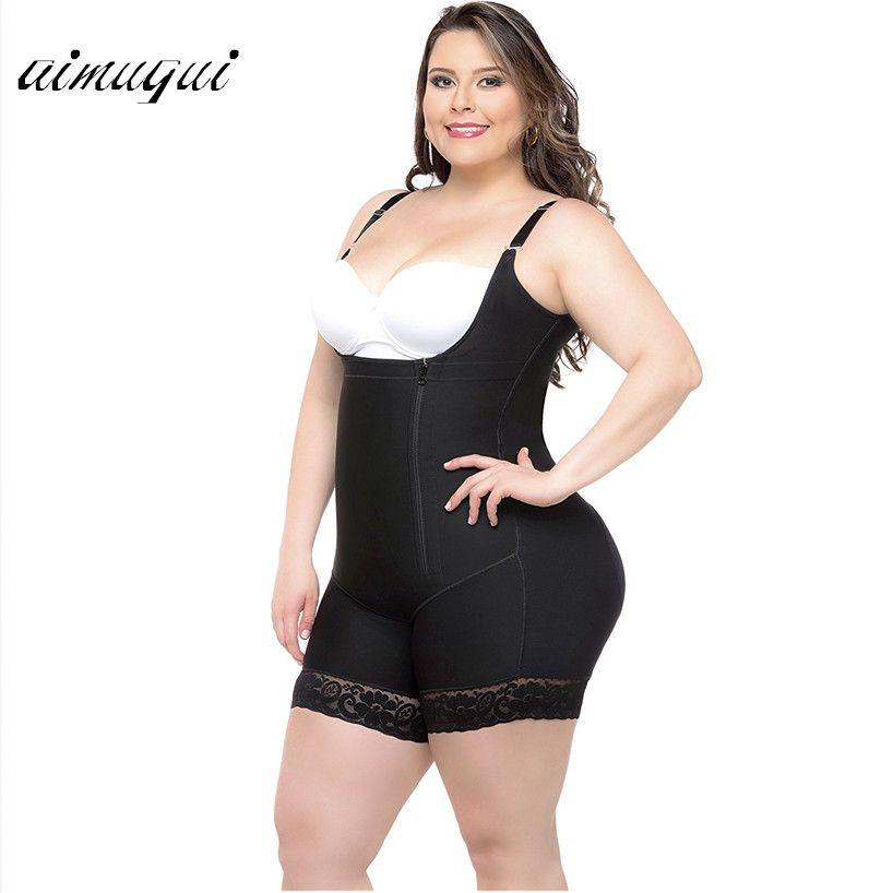 Butt Lift Shapers Sculpting Body Shaper Fat Control Shapewear Full Body Bodysuits Women Plus Size Underwear Slimming Shapewear