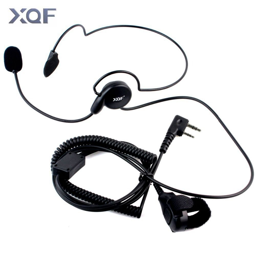 Radio tactique Casque Auriculaire Unilatérale Casque Avec Micro Doigt PTT Ecouteur Cyclisme Domaine Écouteur Pour Kenwood Baofeng