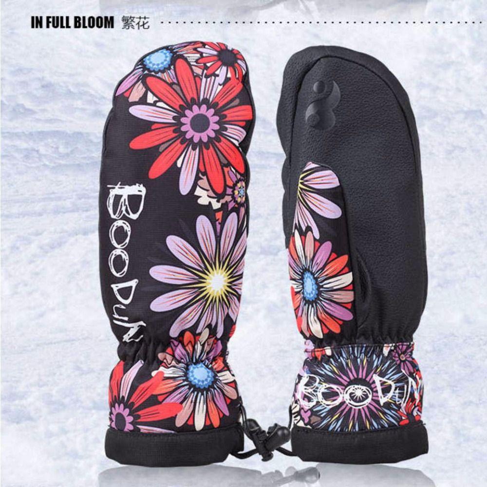 1 Para Qualität Winter thermische Ski-handschuhe Wasserdicht/Cool-beständig Snowboard handschuhe Männer/Frauen guantes für skifahren/snowboard