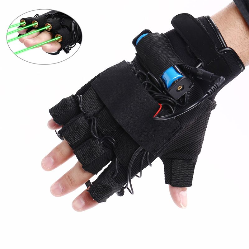 New Arrival 1Pcs Red Green Laser Gloves Dancing Stage Show Light With 4 pcs Lasers and LED Palm Light for DJ Club/Party/Bars