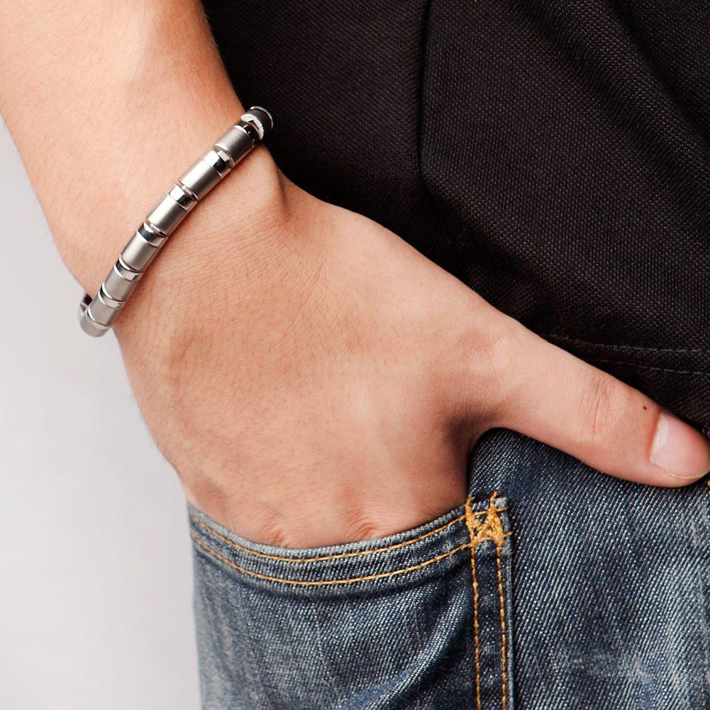 Bracelet en perles de Germanium titane 99.999%