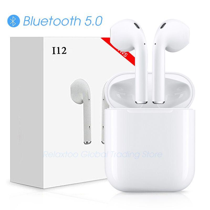 I12 tws écouteurs bluetooth Sans Fil écouteurs Tactile contrôle Écouteurs 3D Surround Sound & cas De Charge pour iphone téléphone android