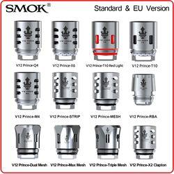 Original SMOK TFV12 Prince Coil RBA Q4 M4 T10 Light Mesh Strip Resistence Core Glass for V12 Prince Tank X-Priv E Cigarette Vape