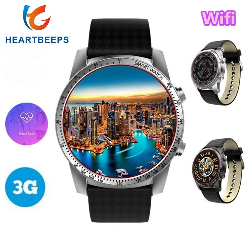 2018 New KW99 3G Smart Watch MTK6580 Quad Core Android 5.1 GPS Smartwatch Wifi For Men 1.3GHz 8GB Heart Rate Monitor Pedometer