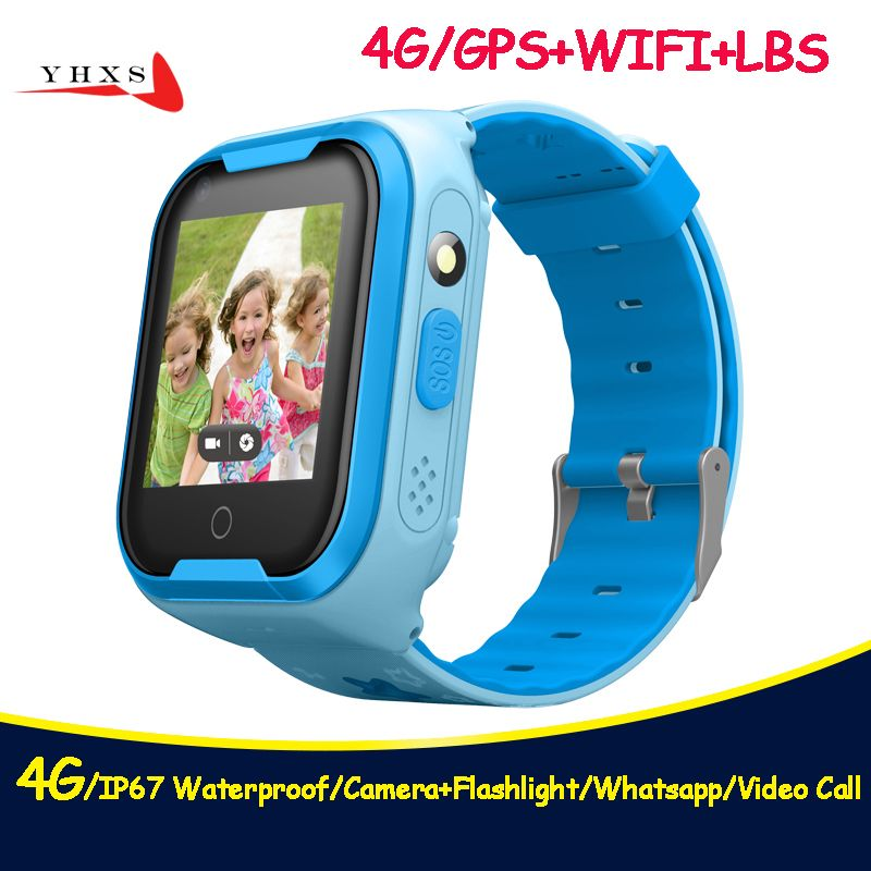 2018 New 4G IP67 Waterproof Smart Remote Camera GPS WI-FI Kids Children Wristwatch SOS Video Call Monitor Tracker Location Watch