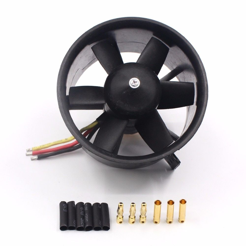 QX 90mm EDF Ducted Fan Motor 6 Blades QF3530 1750KV Brushless Motor Balance Tested for Jet RC Airplane Multicopter F22138