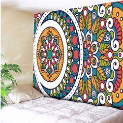 India Mandala Permadani Pantai Melempar Handuk Yoga Mat Taplak Meja Psychedelic Dinding Gantung Asimetris Geometris Bunga 150X230 Cm