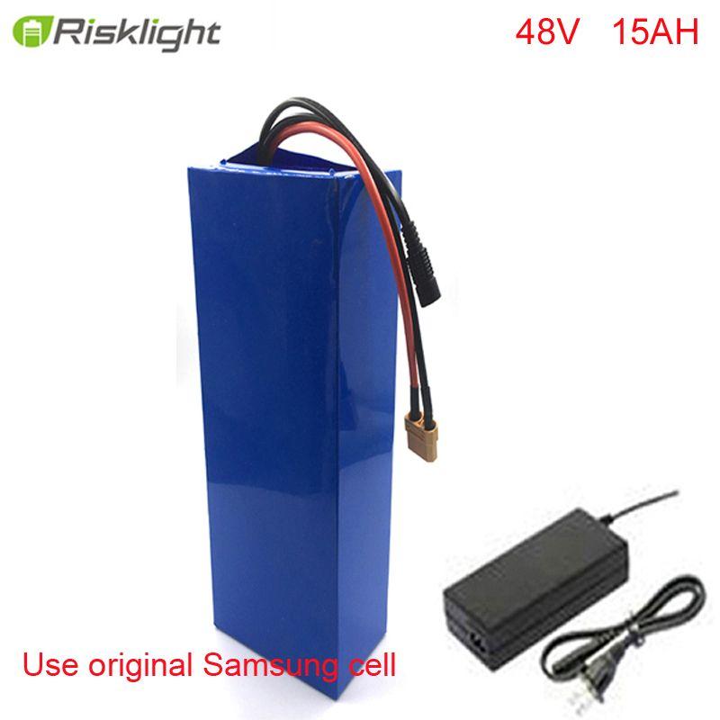 e-bike battery 48v 15ah li ion battery pack bike conversion kit bafang 1000w For Samsung cell