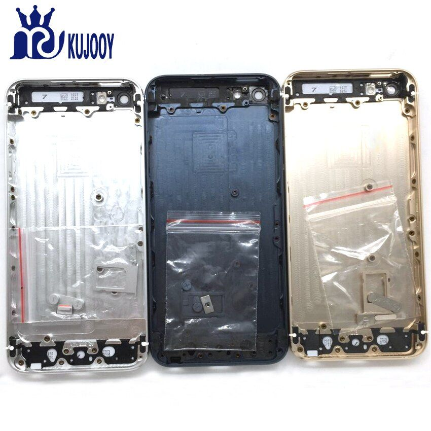 Back Battery Cover For Apple For iPhone 5 5G/5S/SE Rear Door Case Middle Chassis Back Metal Housing With Parts