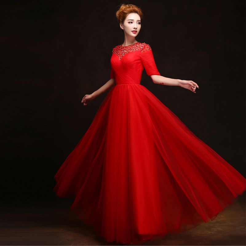 Diamonds Chiffon 2018 New Women's Elegant Long Gown Party Proms For Gratuating Date Ceremony Gala Evenings Dresses Up 081 Z