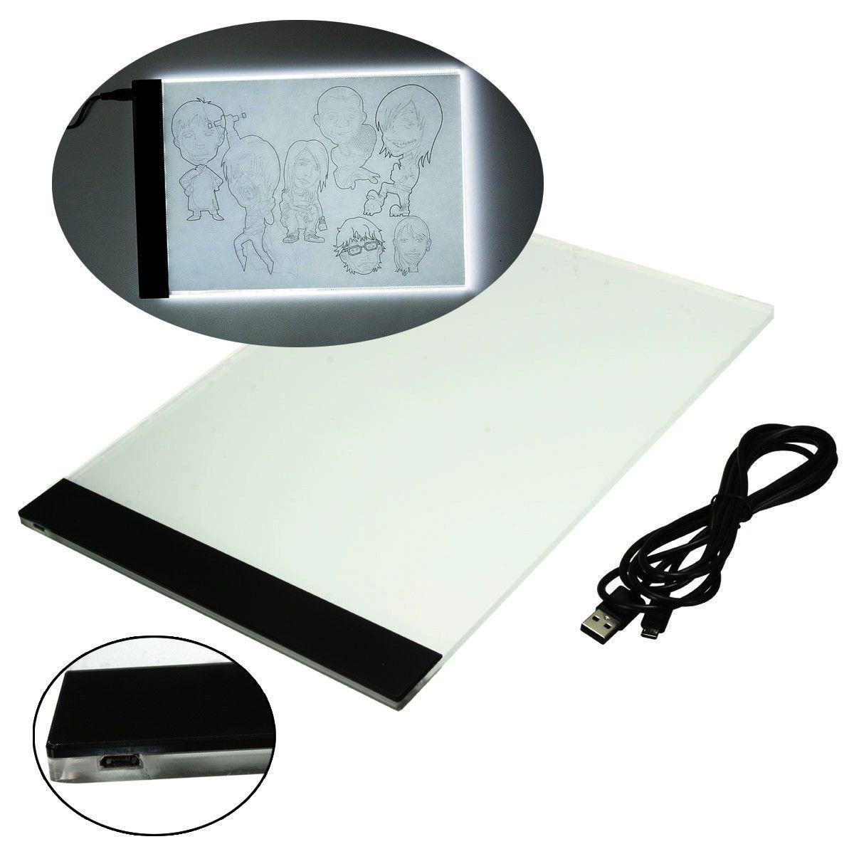 Ezlife A4 отслеживание Чертёжные доски LED Книги по искусству ist тонкий Книги по искусству трафарет табло световой короб отслеживание Чертёжные ...