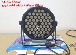 LED par DJ Par LED RGBW 4in1/Frio branco/Branco Quente/UV 54X3 W LED par Motherboard Lavagem Luz de Discoteca DMX Controlador Livre grátis